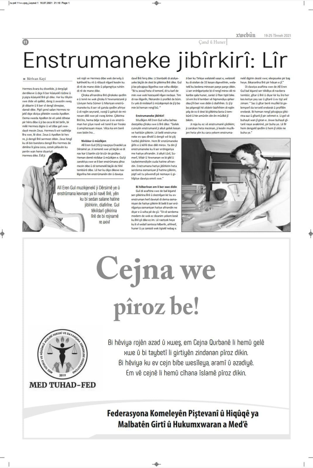 Xwebun Gazetesi Lir Müzik Aleti Röportajı